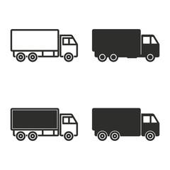 Truck icon set.