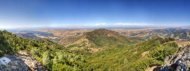 Golden hills in Contra Costa county, mount Diablo