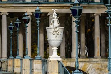 Baroque statue in Lazienki Park (Royal Baths Park), Warsaw