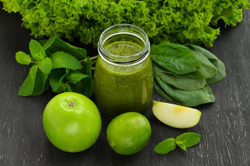 Green homemade smoothies