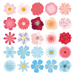 Vector set of plants, flowers and herbs.
