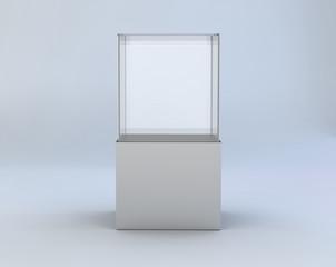 glass showcase in a room