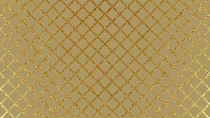 Abstract gold glitter geometric vector background.