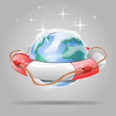 earth and life buoy