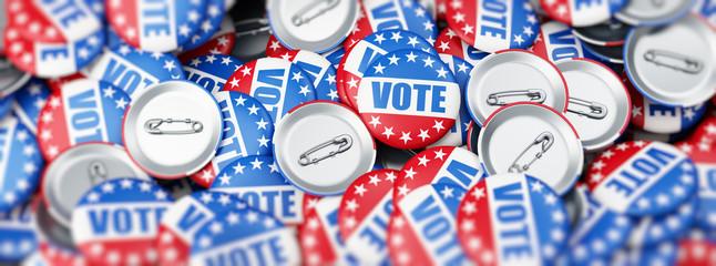 vote election on a white background 3D illustration, 3D rendering