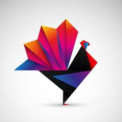 indyk origami wektor