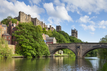 Durham Castle and Cathedral Framwellgate Bridge England Fototapete