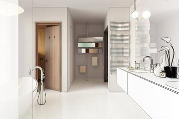 Modernes Badezimmer (Projekt)