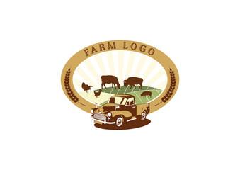 Farm Field Logo Badges Template