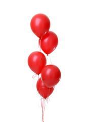 Bunch of big red balloons object for birthday party