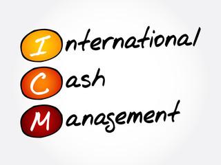 ICM - International Cash Management, acronym concept background