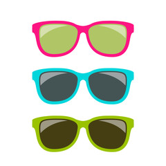 Funky style colorful sun glasses