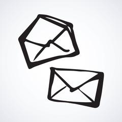 The envelope. Vector symbol