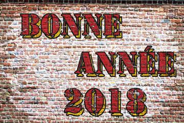 Grafitti. Bonne année 2018