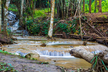 Waterfalls and natural water sources During the rainy season to winter