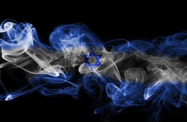 Israel national smoke flag