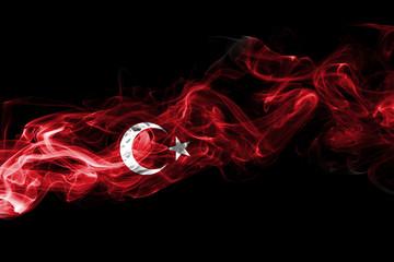 Turkey flag smoke