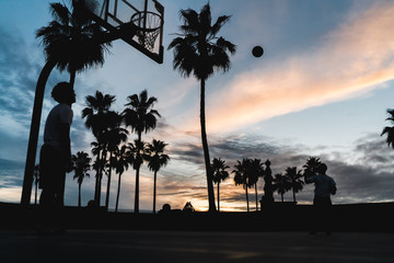 Basketball  Venice Sonnenuntergang