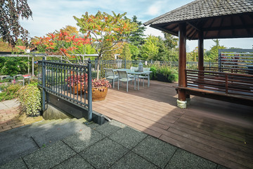 Characteristic gazebo with opportunity to relax