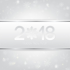 Silver Happy New Year 2018 Background