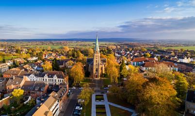 Aachen Brand im Herbst