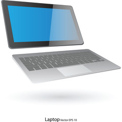Laptop Computer Vector Illustration, EPS 10.