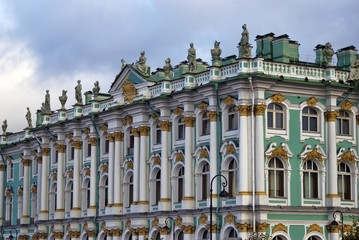 Architecture of Saint-Peterbsurg, Russia. Color photo.