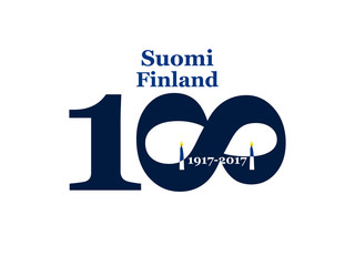 Greeting Card 100 anniversary of the independence of Finland. December 6th
