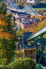 Blaues Wunder und Schwebebahn Loschwitz Dresden
