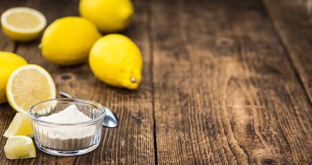 Lemon powder (fresh) as detailed close-up shot, selective focus)