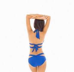 Sexy body of young beautiful woman with bikini
