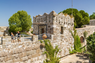 Sunny view of Castle of St. Peter, Bodrum, Mugla province, Turkey.