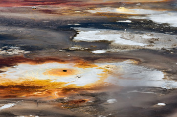 Background texture of Porcelain Basin in Yellowstone