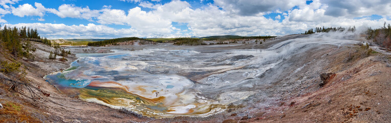 Porcelain Basin in Yellowstone national par, USA.