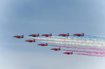 Swansea Air Show Red Arrows Display Team