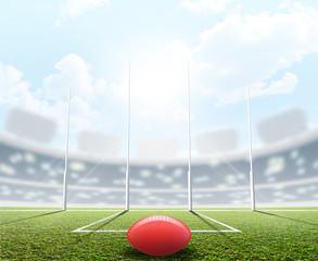 Sports Stadium And Goal Posts
