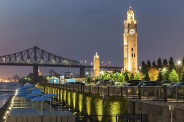 Montreal Clock Tower at night
