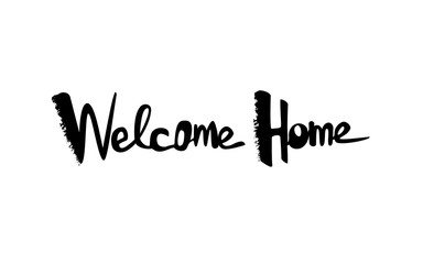 Welcome Home lettering