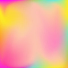 Neon holographic colorful vector background. Abstract soft pastel colors backdrop. In pink, yellow and blue colors.