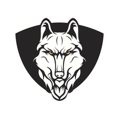 wolves logo mascot design illustration
