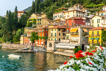 Flowers at Varenna, Lake Como, Italy