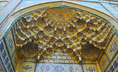 The portal of Shah's Mosque in Tehran