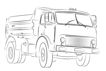 Sketch of the big truck.