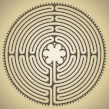 Labyrinth of the cathedral of Chartres, France