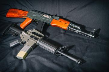 USA rifle versus soviet union rifle