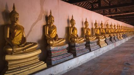 Golden buddha statue of Phutthaisawan Temple in Ayutthaya, Thailand