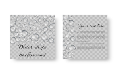 Cover leaflet for an environmental event with shiny drops of water.