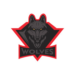 wolves logo mascot design vector illustration