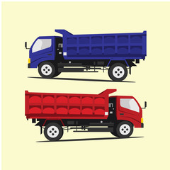 dump truck Logo Vector Template Design