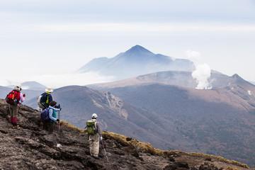 Wandern an den Vulkanen von Kirishima, Japan